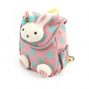 Gemini Fairy Cotton Material Lovely Rabbit Zoo Pack Little Kid Backpack with Safety Harness for 1-3 Year Old Baby
