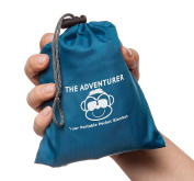 ADVENTURER Monkey Mat - 1.2m x 1.5m Ultra Lightweight and Portable Pocket Mat for Backpacking, Hiking, and Camping