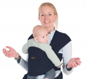 Baby Carrier Wrap Sling Ring - 2 Sling Rings added for Breastfeeding Mom - Large Pocket - Perfect Baby Shower Gift - Woven Cotton for Newborn, Infant, Toddler - Navy Blue