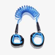 Ming Hua Safety Child Anti Lost Wrist Link Harness Strap Rope Leash Walking Hand Belt Band Wristband (150cm Blue) …