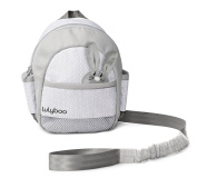 Lulyboo Toddler Safety Harness - Durable Adjustable Backpack with Bunny Motif Includes Safety Tether and Wrist Strap