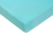 Premium Bamboo Fitted Pack N Play Playard Sheet, EXTREMELY SOFT & BREATHABLE, Fits Perfectly Any Standard Playard Mattress up to 7.6cm , Turquoise