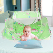 SINOTOP Baby Travel Bed Crib Mosquito Ded Portable Baby Bed Folding Baby Mosquito Net Portable Baby Cots for 0-18 Month Baby