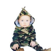 TRENDINAO Newborn Boys Girls Clothes Camouflage Baby Hooded Romper Jumpsuit
