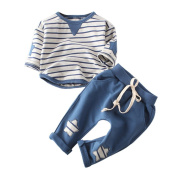 TRENDINAO Newborn Boys Girls Soft Cotton Clothes Toddler Star Clothes Set Tops+Pants