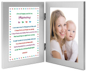 Mommy Gift From Newborn, New Mom Sweet Poem in Double Frame, Add Photo