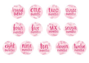 Tiny Ideas Watercolour Style Baby Belly Stickers, Pink