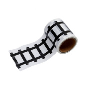LALANG DIY Railway Road Stickers Adhesive Paper Tape, Pretend Play Road Tape
