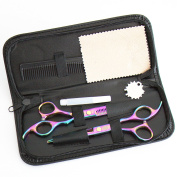 ZM Hair Barber Scissors Shears Hair Cutting/Thinning Scissors- 17cm Overall Length with Fine Adjustment Tension Screw