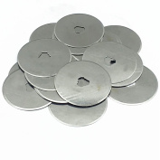 Preamer 10PCS 28/45/ 60mm Rotary Cutter Blades for Fabric Leather Craft Paper Cutting Fits OLFA Fiskars CUT Cutters