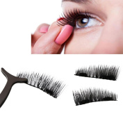 0.2mm Magnetic Eye Lashes , ONEMORES Ultra-thin 3D Reusable False Magnet Eyelashes Extension