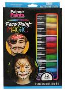 Face Paint Magic 12 Jumbo Colour Sticks Set