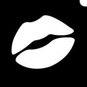 Glimmer Body Art Glimmer Tattoo Stencil - Emoji Lip