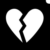 Glimmer Body Art Glimmer Tattoo Stencil - Emoji Broken Hearted