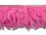 Feather Trim, 1 Yard - Candy Pink Chandelle Feather Trim Costume Fluffy Garment Mardi Gras