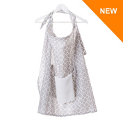 NEW AND PREMIUM Nursing & Breastfeeding Cover 110 x 75 cm - 100% HIGH QUALITY Cotton with a POCKET and FREE Muslin Cloth - Breastfeeding Apron, Shawl - Breastfeed in confidence, comfort and discretion!