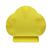 Kids Silicone Mat Portable Waterproof Silicone Antibacterial Mat for baby Feeding-baby Place Mat -Yellow