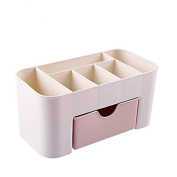 Janice home Pink makeup organiser cosmetic organiser and Large 1 Drawer Jewerly Chest or makeup storage ideas Case Lipstick Liner Brush Holder make up boxes Organiser measures
