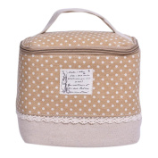Enjoydeal Makeup Bag Multifunction Travel Floral Cosmetic Storage Case Pouch Toiletry