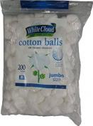 White Cloud Cotton Balls, Jumbo Size, 100% Pure Cotton,