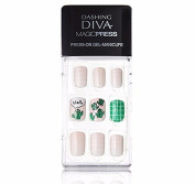 """Dashing Diva Magic Press """"Cactus Pot"""" Full Cover Gel Nail Tips, Easy to attach without Glue (Asian Type, Disposable) MDR013"""