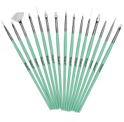Mint Coco Nail Art 15 Pc Brush Set By Twinkled T