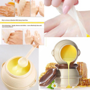 Hunputa Hand Peel Mask,Exfoliating Callus Remover,Shiny and Soft Purederm exfoliating Hand Peeling Mask Peels Away Calluses and Dead Skin,Honey Peel Off Hand Wax Mask