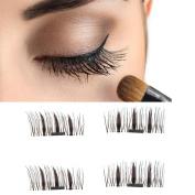Magnet Eyelashes,Susenstone 4pcs Ultra-thin 0.5mm Magnetic False Eye Lashes 3D Reusable
