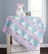 The Bunny Trail Blanket - Pink