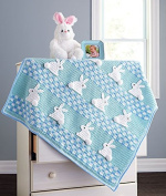 The Bunny Trail Blanket - Blue