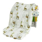 Trenton Cute Cartoon Pattern Newborn Baby Bath Towel Cotton Gauze Blanket Washcloth Wipe Cloth 120cm x 120cm