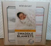 Bebe au Lait Premium Muslin Swaddle Blanket Set