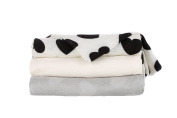Tula Baby Blanket - Love Noir - 3-pack