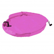 Children's Play Mat and Toys Storage Bag Kids Playbag Toys Organiser Pink