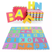 MultiWare 36pcs Large Foam EVA Floor Mat Alphabet Numbers Kids child Puzzle