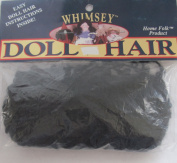 WHIMSEY Craft PACK of 1 Curly DOLL HAIR 15 YARDS (14 Metres) BLACK Colour from LAMBSWOOL, Kid MOHAIR & Nylon