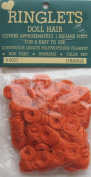 RINGLETS Craft PACK of 1 Curly DOLL HAIR Colour ORANGE Synthetic HAIR Covers approx. 0.09sqm