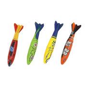 Lanlan 4 Pcs Submarine Torpedo Toys Set Water Sports Game Teach Diving Toy Gift for Children
