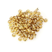 200pcs/lot 3.5mm Metal Eyelets Grommet for Leather Craft Bags Gold