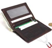 Men's Genuine oiled Leather mini Wallet Vintage brown Magnetic soft Skin Coin Money Pocket Retro Style Luxury maximum Thin DavisCase