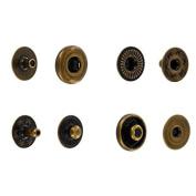 SNHB11 Snap Button, Hidden Cap, S-Spring Socket, Antique, Solid Brass