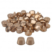 20pcs Leather craft DIY Button Solid Brass Flat Head Screw Feet Nailhead Studs Screwback 10xM3x6mm