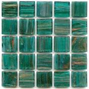 Vitreous 1.9cm Tile - P 60 Blue Emerald - 0.5kg bag Hakatai Brand Glass Tile