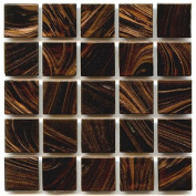 Glass Tile 1.9cm Hakatai Brand - P 36 Henna - 0.5kg bag