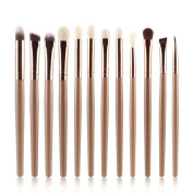 XILALU Women 12PCS Cosmetic Brush High-grade Synthetic Fibres Makeup Brush Sets Kits Tools