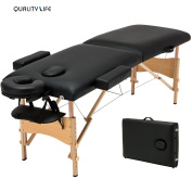 New 210cm L Fold Portable Massage Table Facial SPA Beauty Bed Tattoo w/Free Carry Case