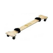 EARTHLITE Massage Table Skate - Lightweight, Wooden Portable Massage Table Cart / Trolley w/ 2 Quick Release Buckle Straps