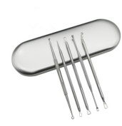 Lady Up 5-in-1 Acne Removal Tool Stainless Steel for Blemish, Whitehead, Pimples and Zit Popper Easily Clean Pores