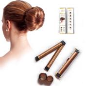 HS Pure High Quality Fashion Women Hair Bun Maker Tool - For Donut, Doughnut, Bun, French Twist - Girls School Hair Styling Curler - Curling DIY Clip