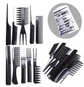 10 Pcs Salon Hair Styling Hairdressing hairdresser Barber Combs Set Professional Hair Styling Comb Kit